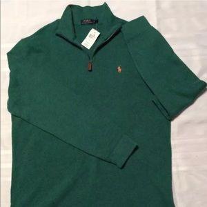 NWT green Polo Ralph Lauren Sz L sweater pullover